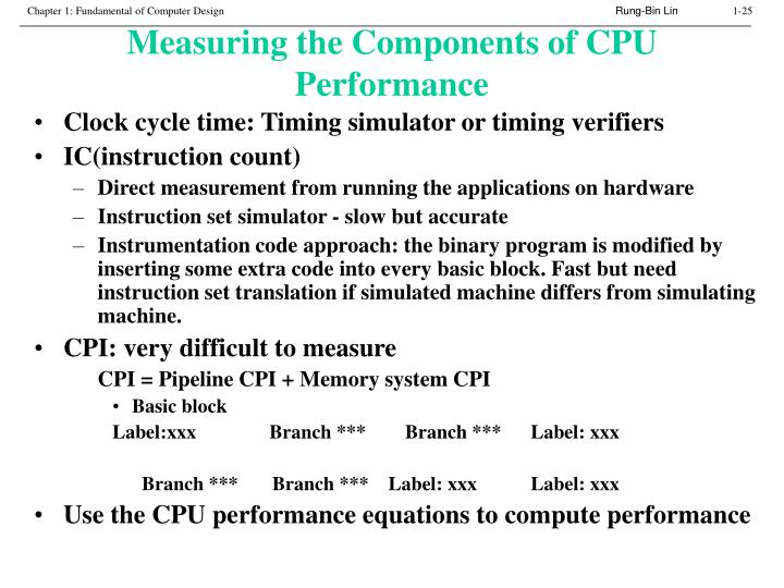 Measuring the Components of CPU Performance