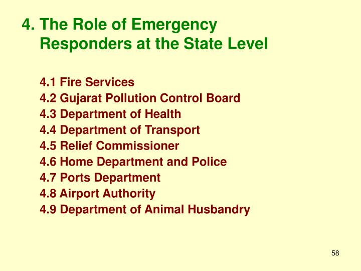 4. The Role of Emergency