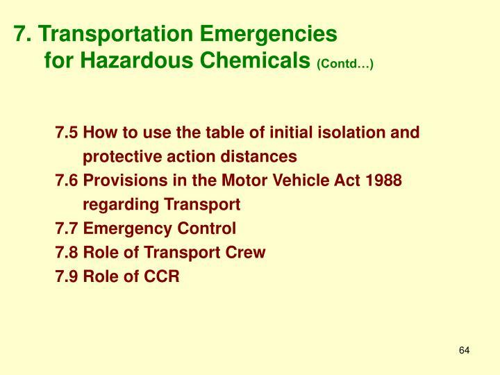 7. Transportation Emergencies