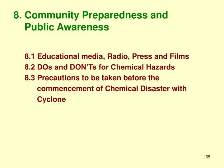8. Community Preparedness and