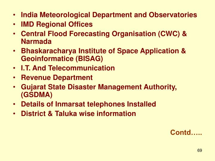 India Meteorological Department and Observatories