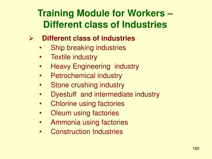 Training Module for Workers –
