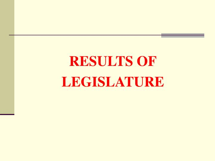 RESULTS OF