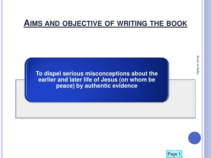 Aims and objective of writing the book