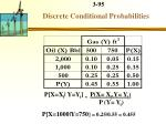 discrete conditional probabilities1