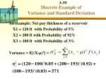 discrete example of variance and standard deviation