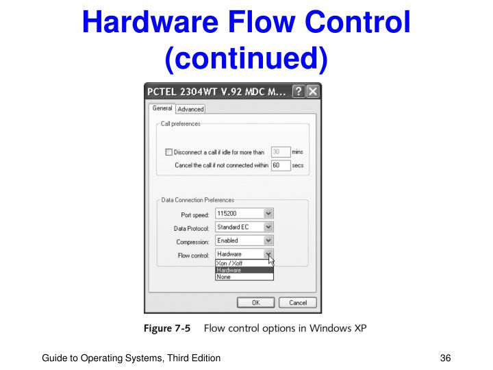 Hardware Flow Control (continued)