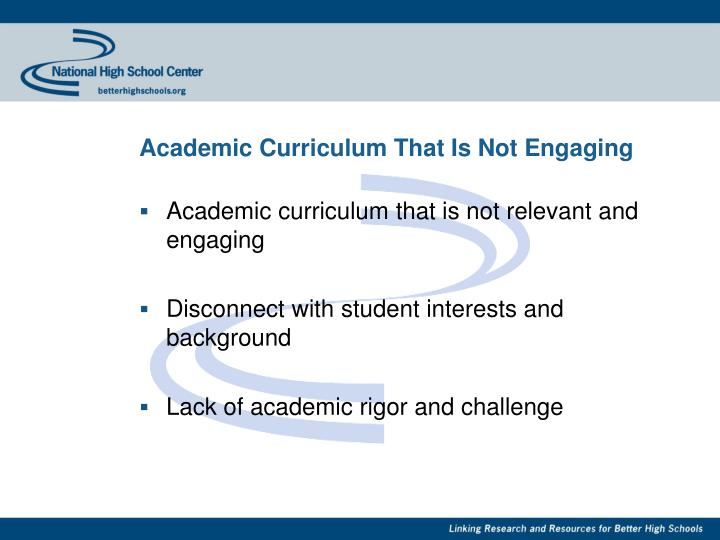 Academic Curriculum That Is Not Engaging