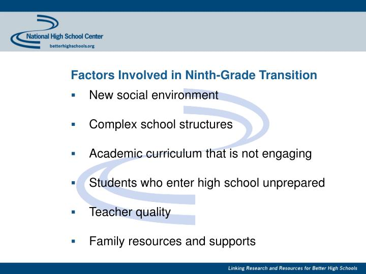 Factors Involved in Ninth-Grade Transition