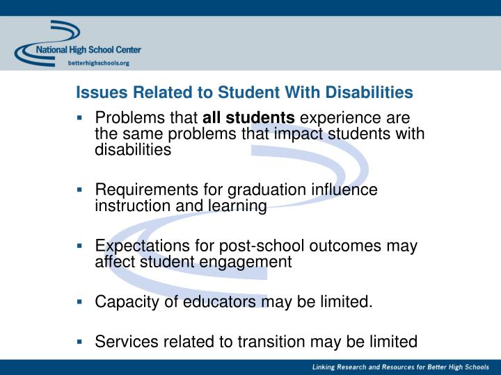 Issues Related to Student With Disabilities