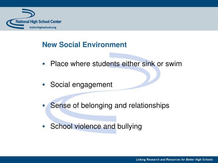 New Social Environment