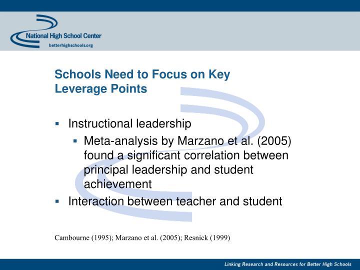 Schools Need to Focus on Key