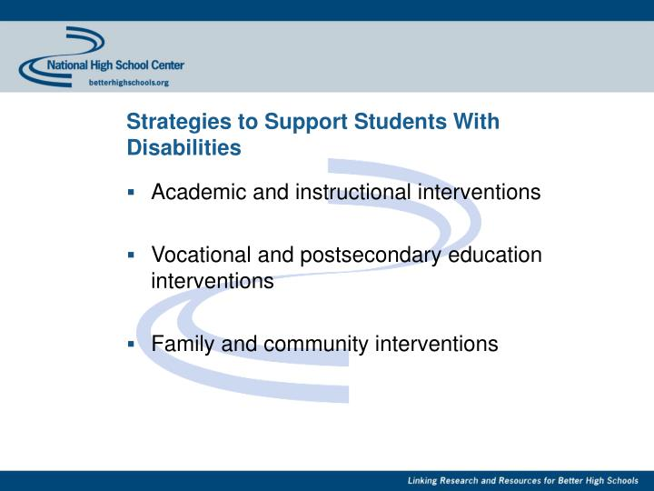 Strategies to Support Students With Disabilities