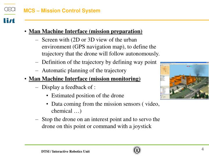 Man Machine Interface (mission preparation)