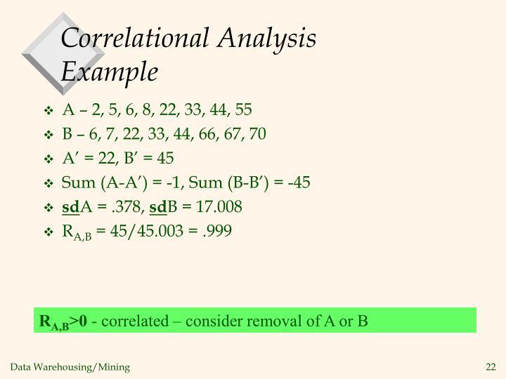 Correlational Analysis Example