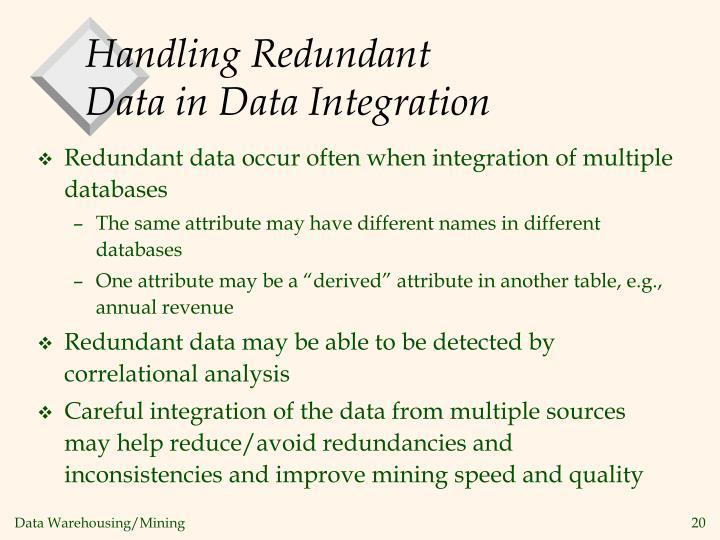 Handling Redundant Data in Data Integration