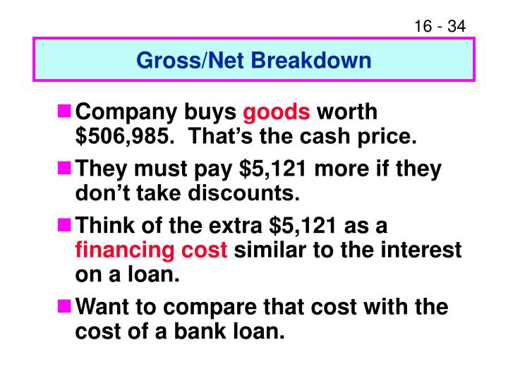 Gross/Net Breakdown