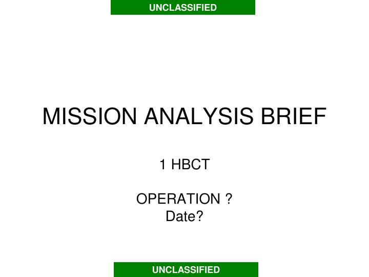 mission analysis brief n.