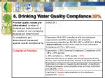 6 drinking water quality compliance 30