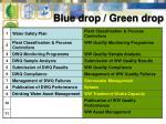 blue drop green drop