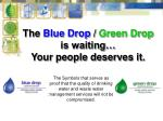 the blue drop green drop is waiting your people deserves it