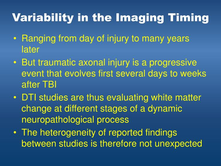 Variability in the Imaging Timing