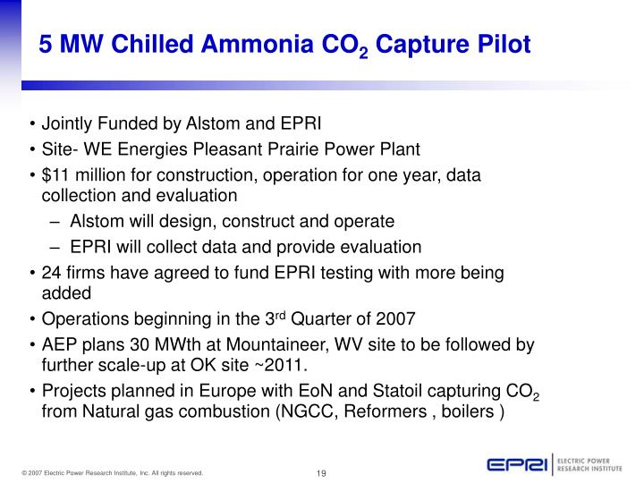 5 MW Chilled Ammonia CO