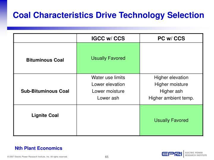Coal Characteristics Drive Technology Selection