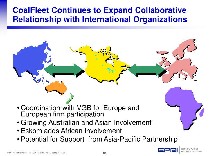CoalFleet Continues to Expand Collaborative Relationship with International Organizations