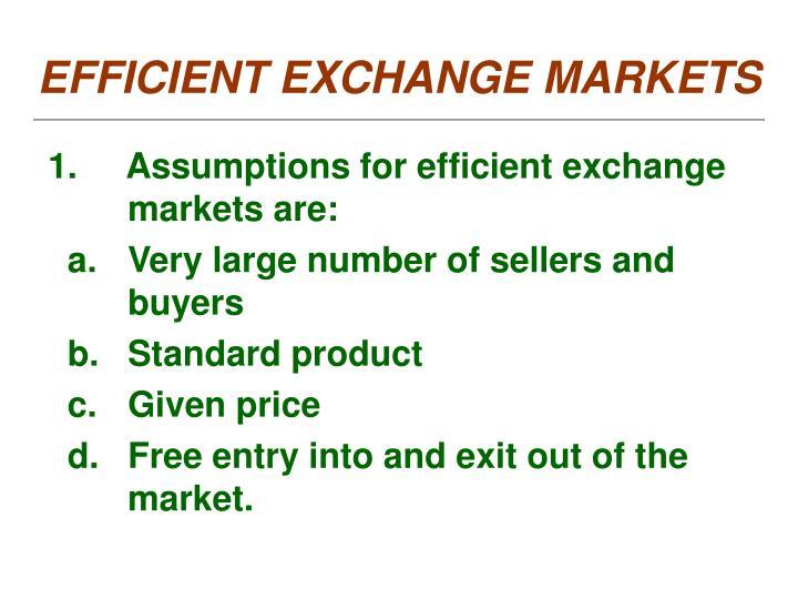 EFFICIENT EXCHANGE MARKETS