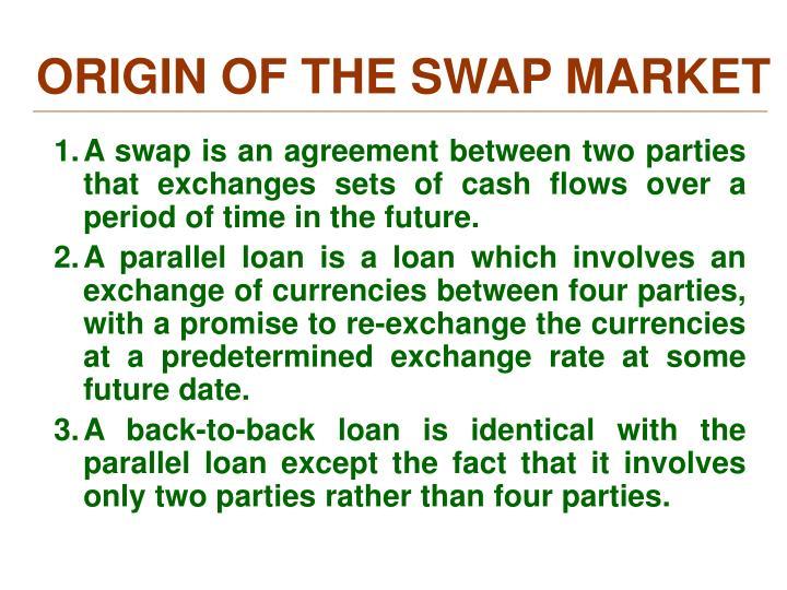 ORIGIN OF THE SWAP MARKET