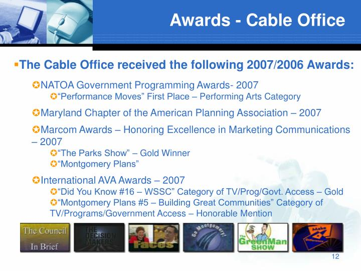 Awards - Cable Office