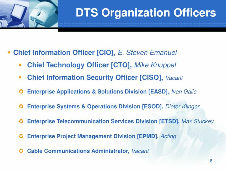 DTS Organization Officers