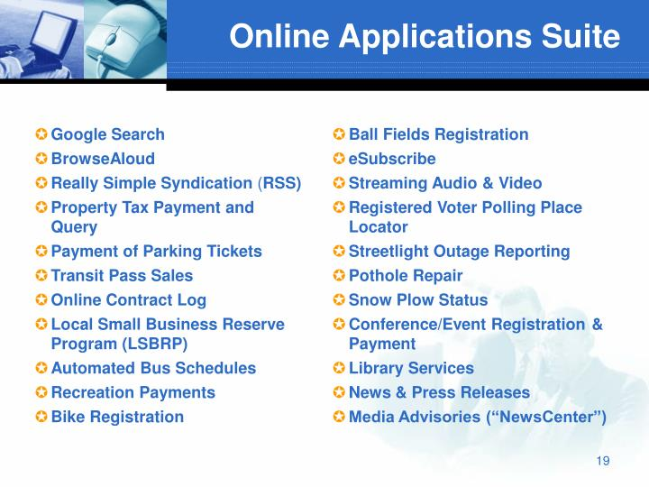 Online Applications Suite