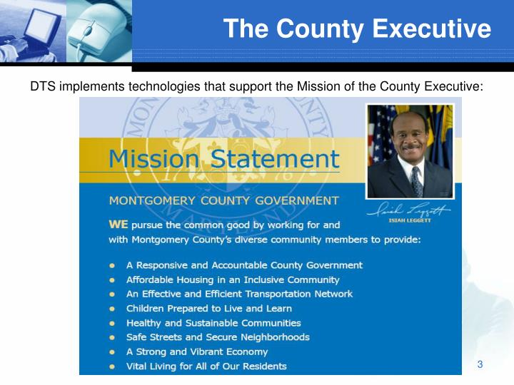 The county executive