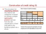 construction of credit rating ii