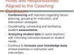 roles and responsibilities aligned to the coaching continuum1