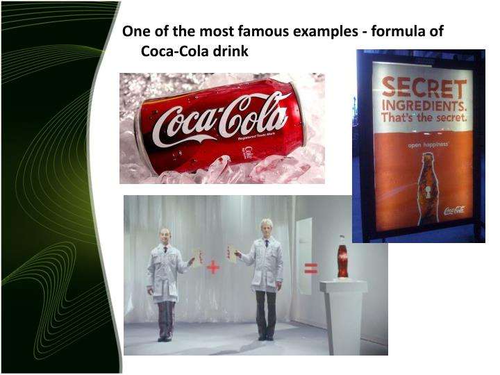 One of the most famous examples -