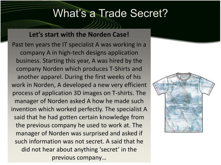What s a trade secret