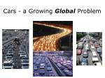 cars a growing global problem