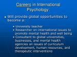 careers in international psychology