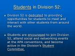 students in division 52
