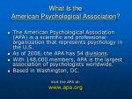 what is the american psychological association