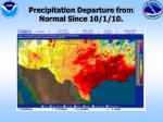 precipitation departure from normal since 10 1 10