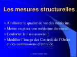 les mesures structurelles