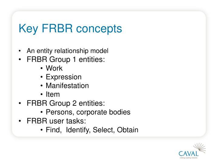 Key FRBR concepts