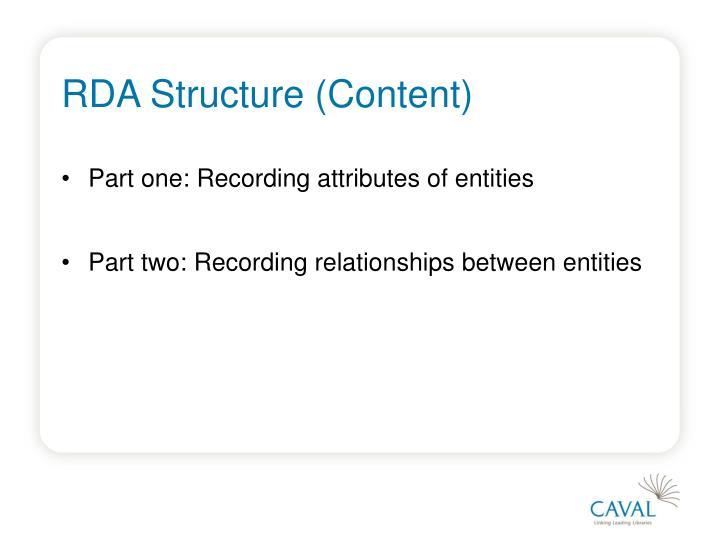 RDA Structure (Content)