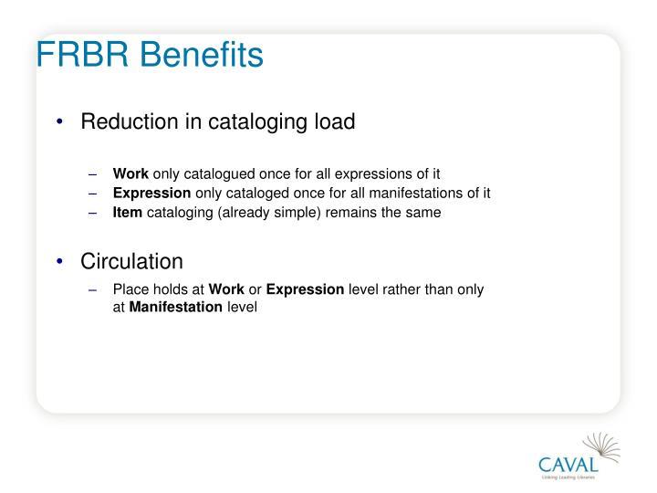 FRBR Benefits