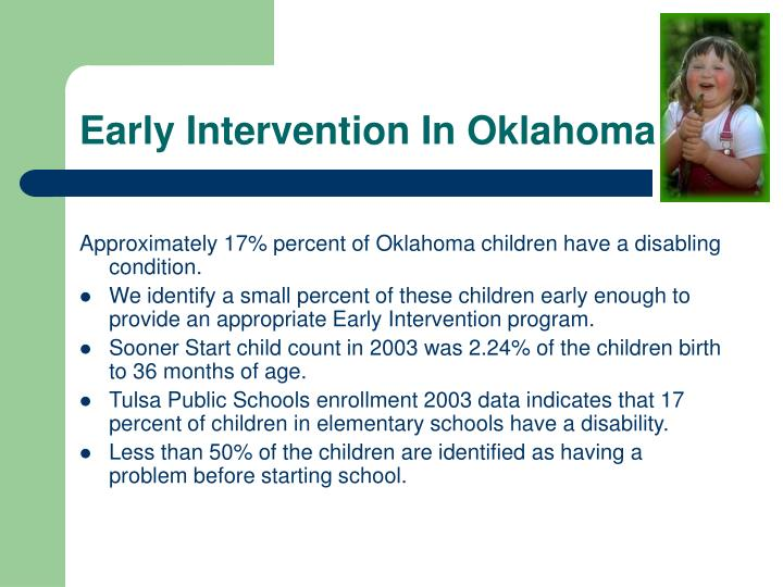 Early Intervention In Oklahoma