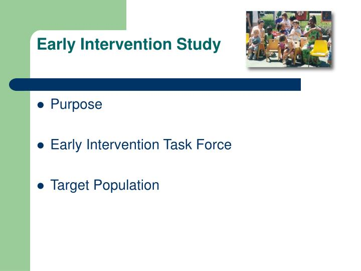Early intervention study1